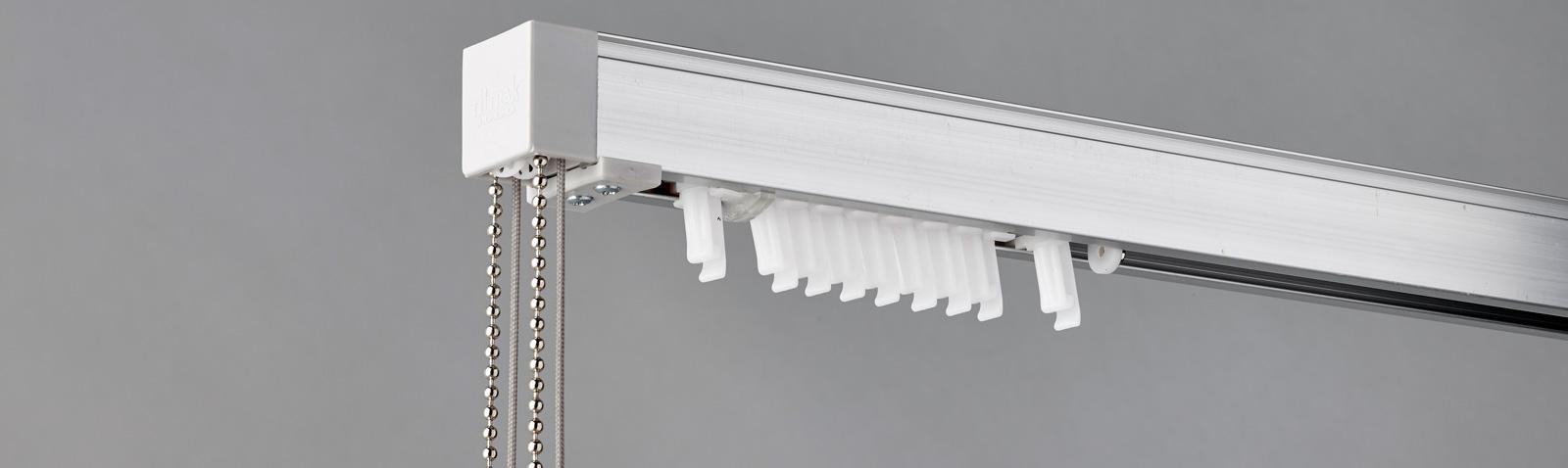 The Tiltrak 1000 Vertical Blind Headrail System