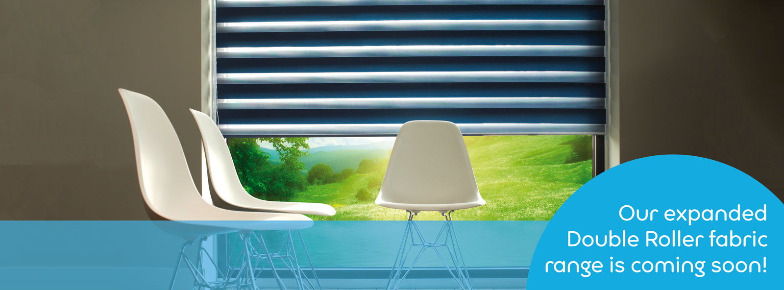 Our expanded fabric range for Double Roller Blinds is coming soon!