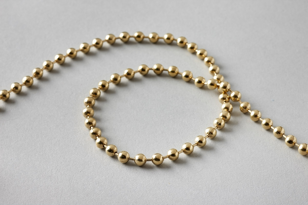 Endless Chain No.10Ls Brass 750mm