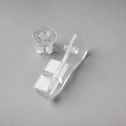 Clear Double Roller Blind Bottom Bar End Cap Set