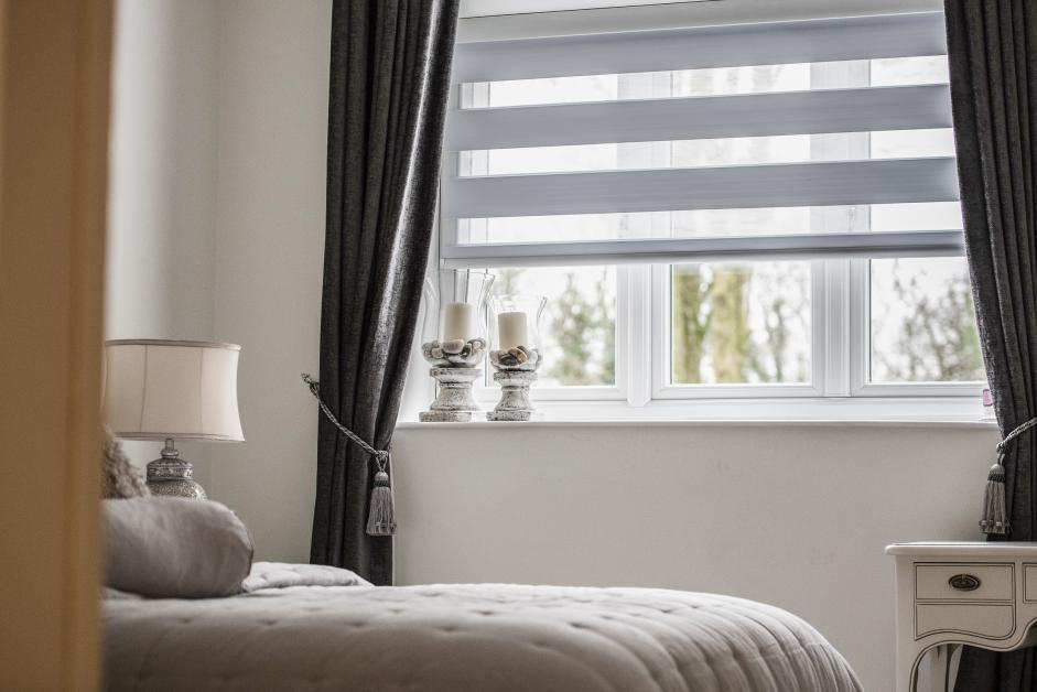 Double Roller Binds in bedroom Decorquip