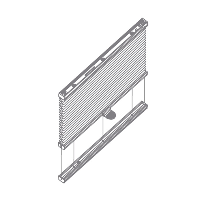 Roof Tensioned Pleated Blind