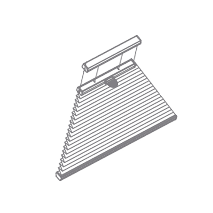 Shaped Tensioned Pleated Blind