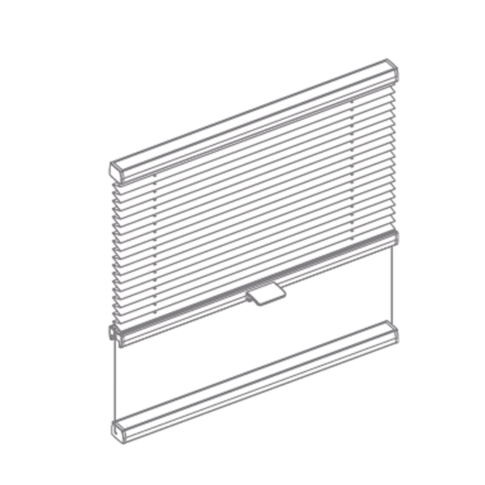 Window Tensioned Pleated Blind with Bottom Bar