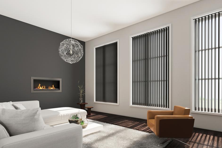 Shimmer Graphite_PVC Vertical_Living Room