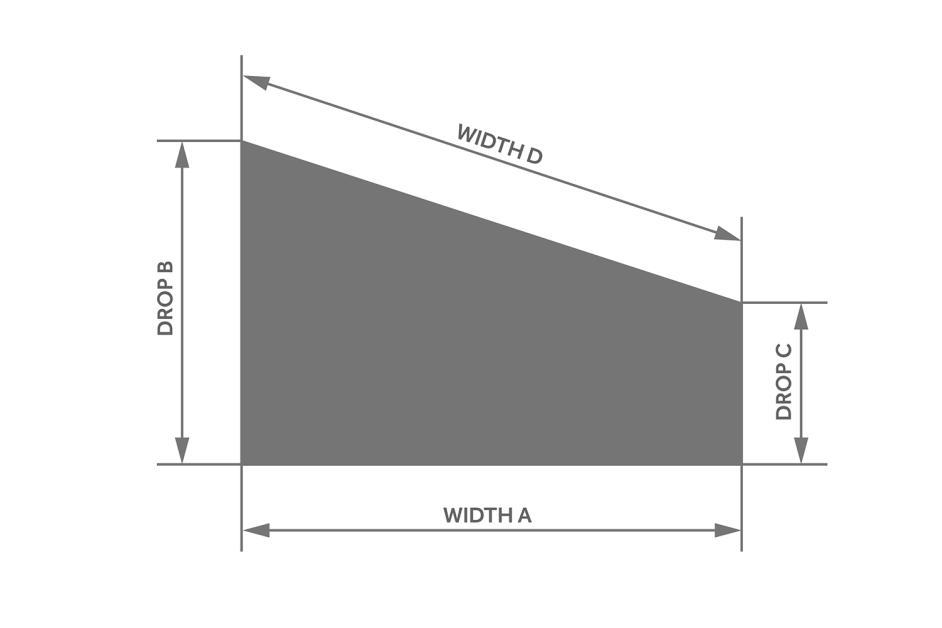 Sloping Vertical Measuring Diagram Decorquip