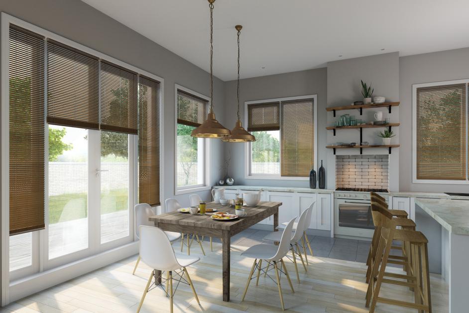 Kitchen Diner Venetian Wood Effect