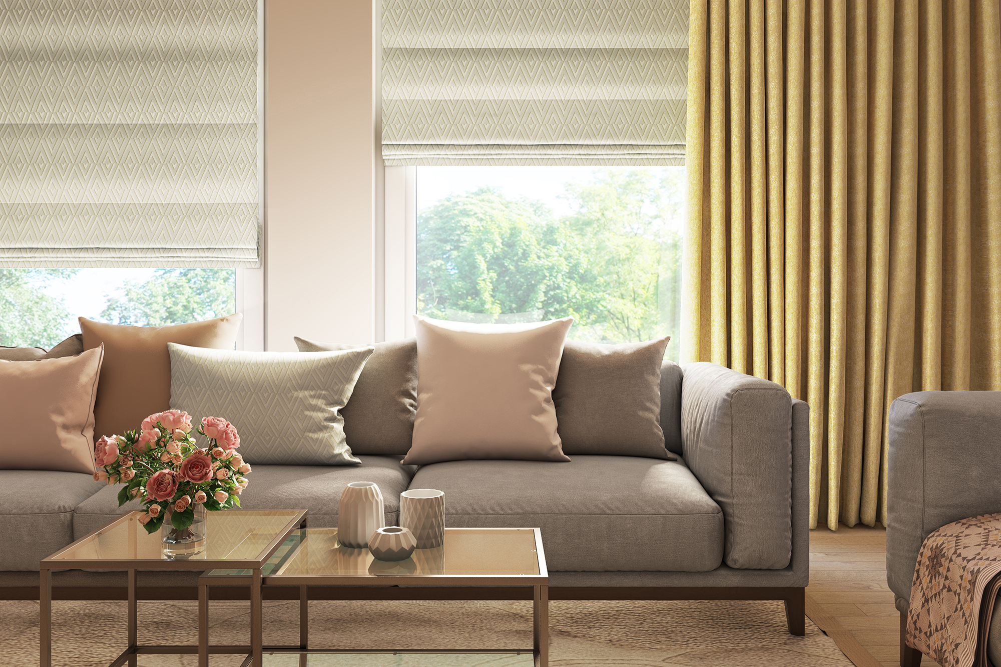 Soft Styled Living Room Curtains Decorquip